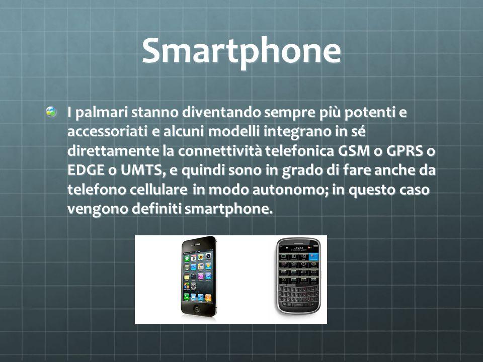 Smartphone I palmari stanno diventando sempre più potenti e accessoriati e alcuni modelli integrano in sé direttamente la connettività telefonica G