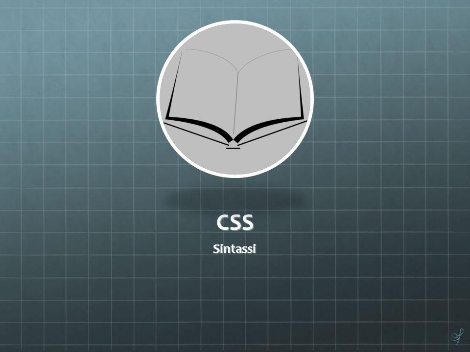 CSS Sintassi