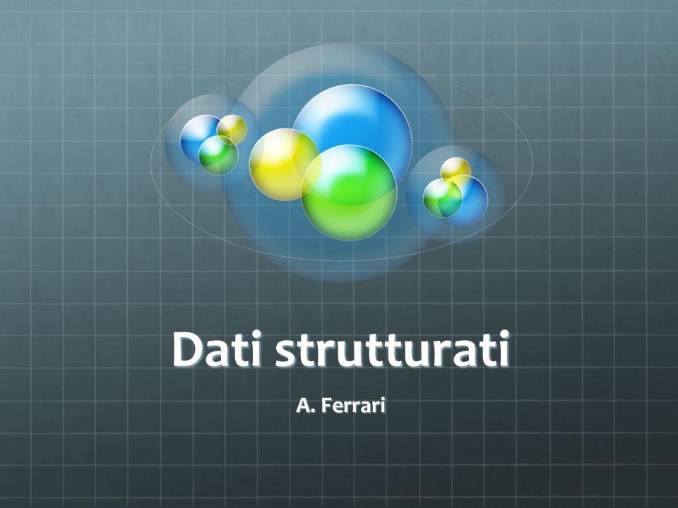Dati strutturati A. Ferrari