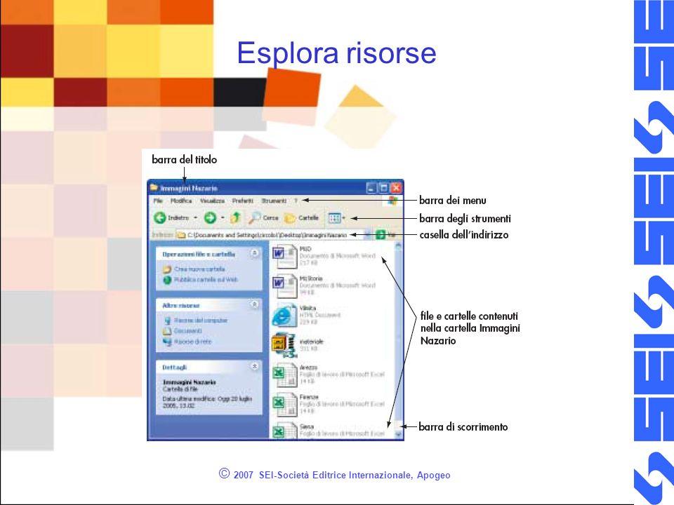 © 2007 SEI-Società Editrice Internazionale, Apogeo Esplora risorse