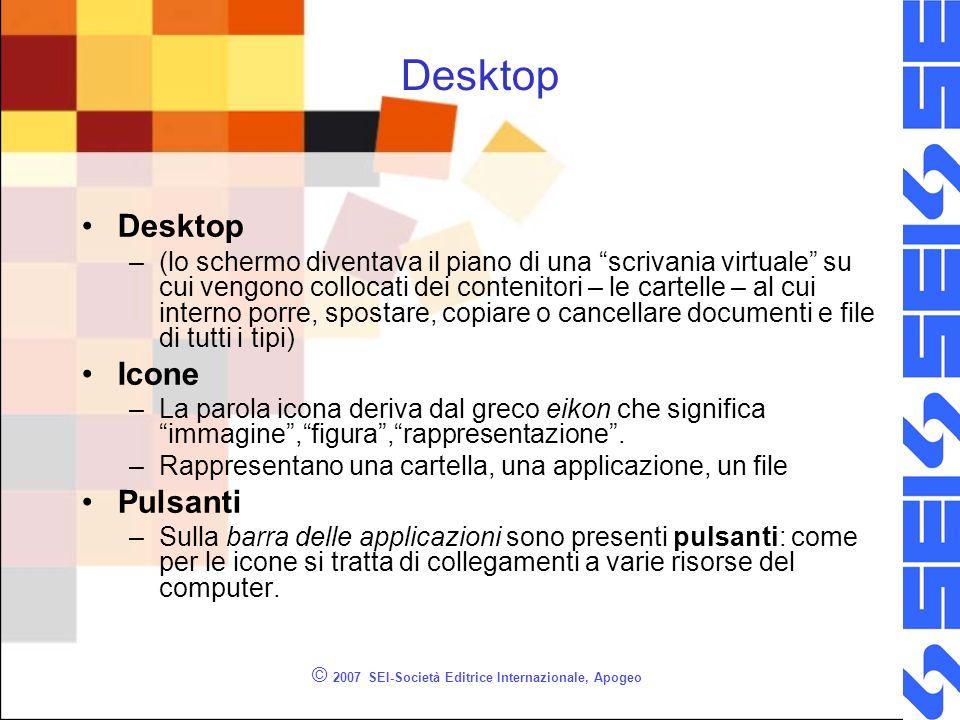 © 2007 SEI-Società Editrice Internazionale, Apogeo Un esempio di desktop
