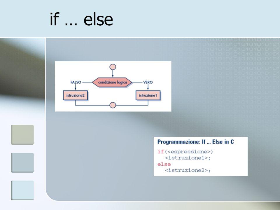 if … else