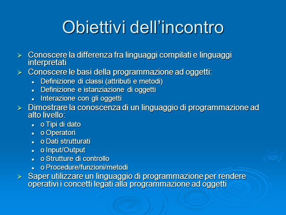 Linguaggi compilati e linguaggi interpretati Nei programmi scritti con linguaggi di programmazione ad alto livello ogni istruzione si traduce in un insieme spesso corposo di istruzioni a livello macchina.