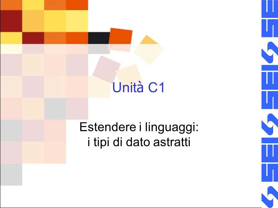 Unit à C1 Estendere i linguaggi: i tipi di dato astratti