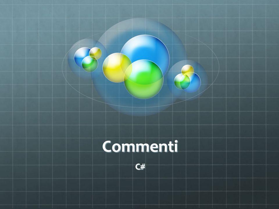 Commenti C#