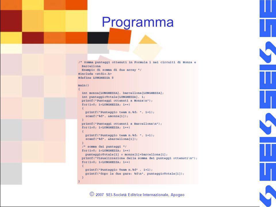 © 2007 SEI-Società Editrice Internazionale, Apogeo Programma