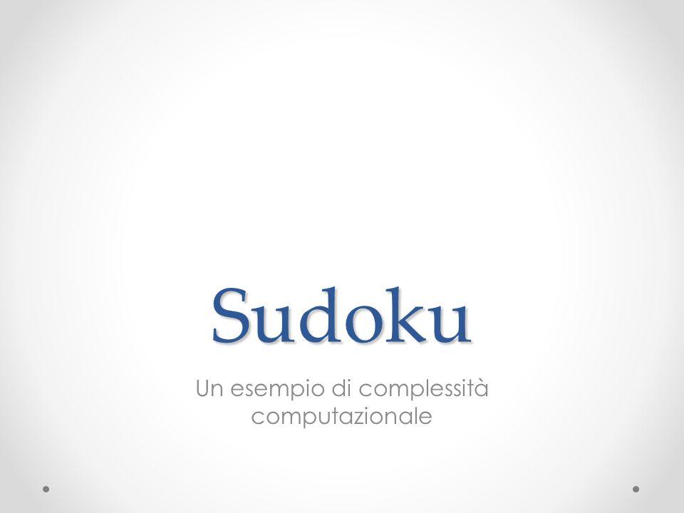 Sudoku Un esempio di complessità computazionale
