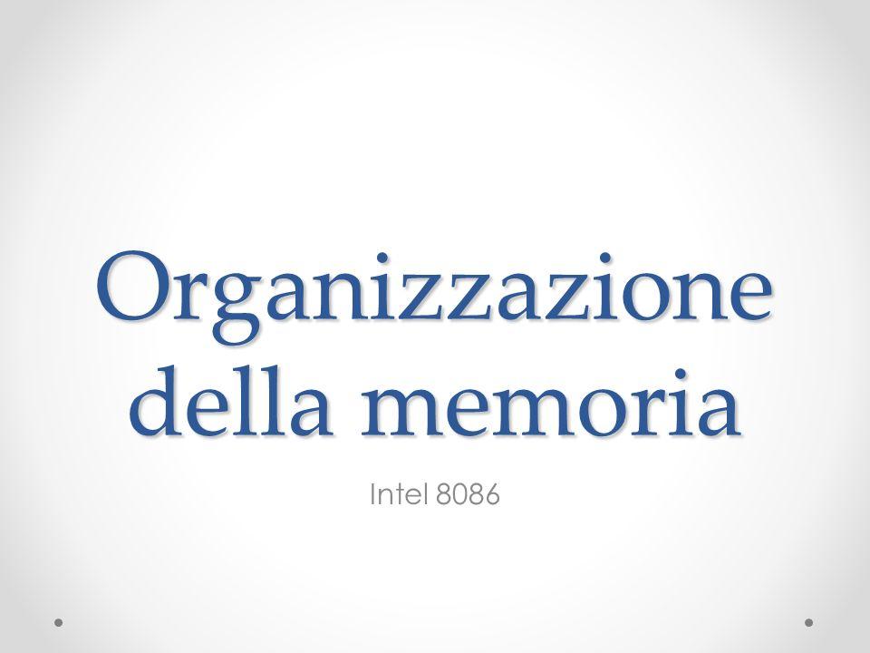 Organizzazione della memoria Intel 8086