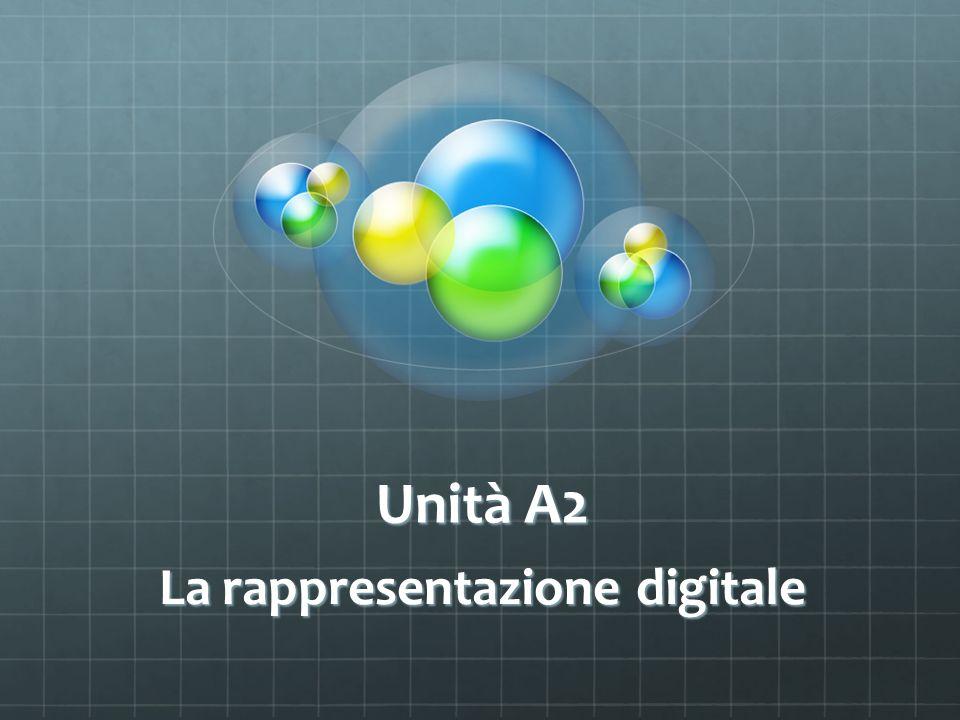 Unità A2 La rappresentazione digitale