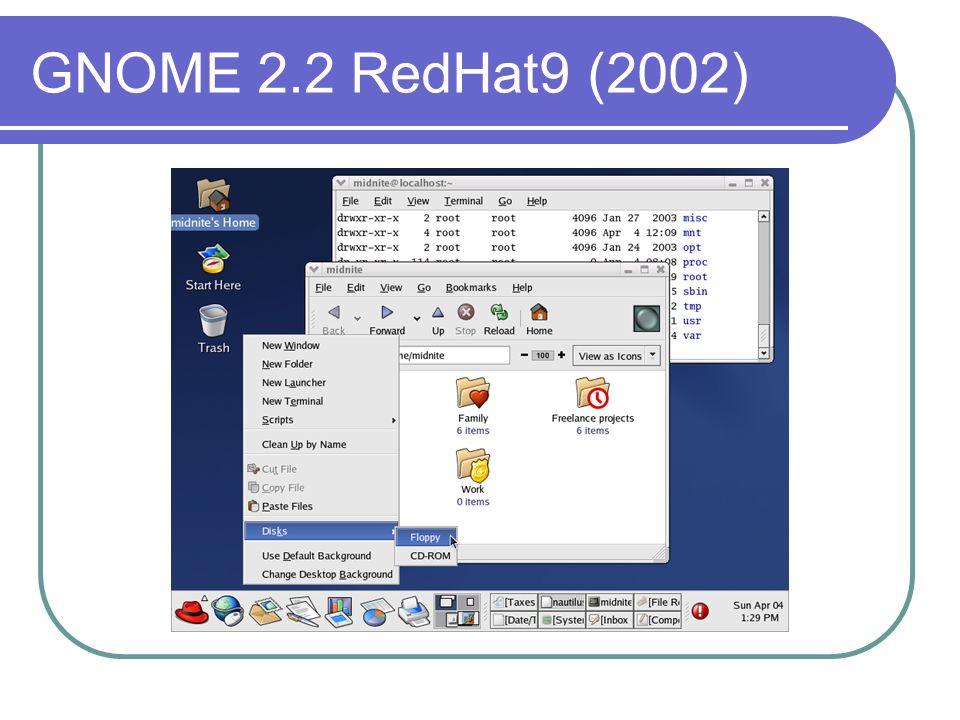 GNOME 2.2 RedHat9 (2002)