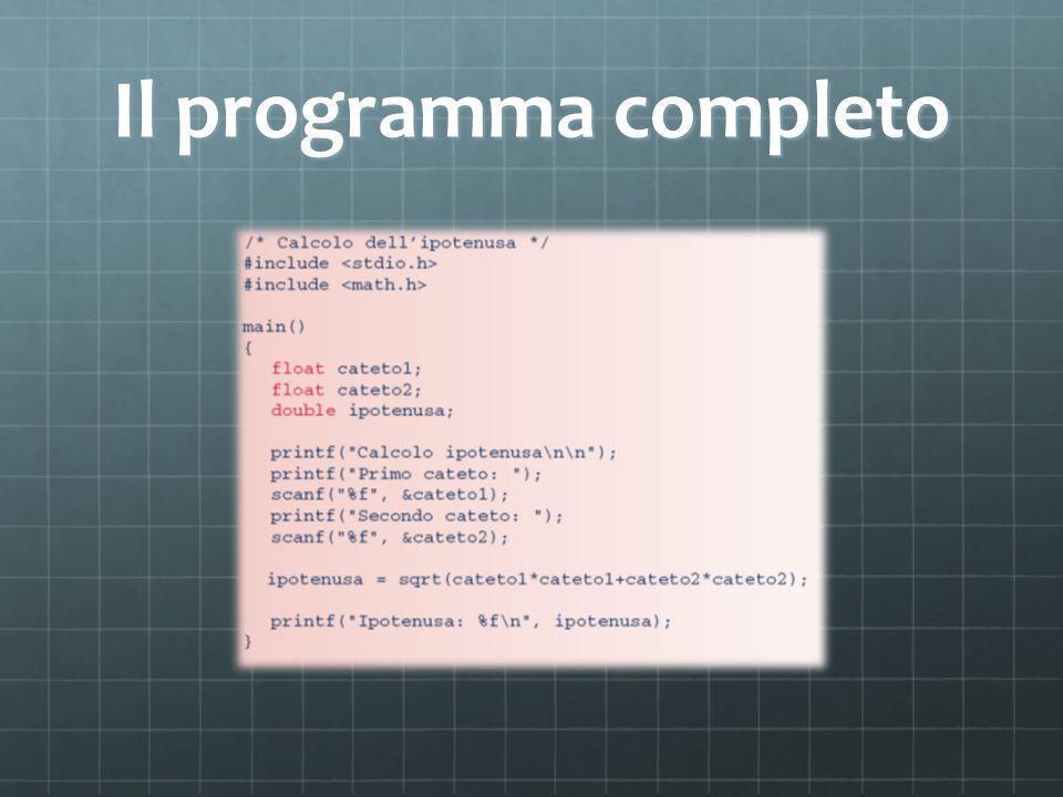 Il programma completo