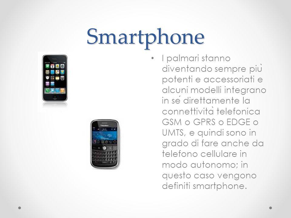 Smartphone I palmari stanno diventando sempre piu ̀ potenti e accessoriati e alcuni modelli integrano in se direttamente la connettivita ̀ telefonica