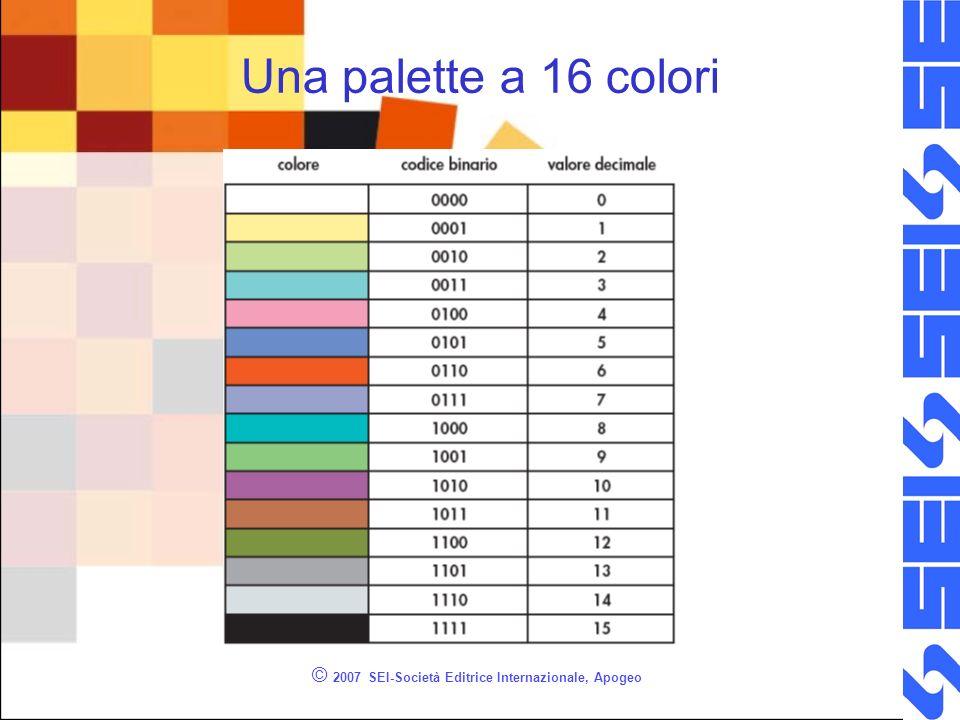 © 2007 SEI-Società Editrice Internazionale, Apogeo Una palette a 16 colori
