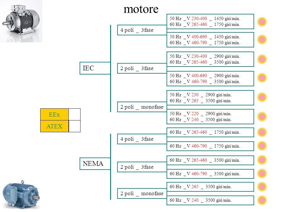 motore 50 Hz _ V 230-400 _ 1450 giri/min. 60 Hz _ V 265-460 _ 1750 giri/min. 4 poli _ 3fase 50 Hz _ V 230-400 _ 2900 giri/min. 60 Hz _ V 265-460 _ 350