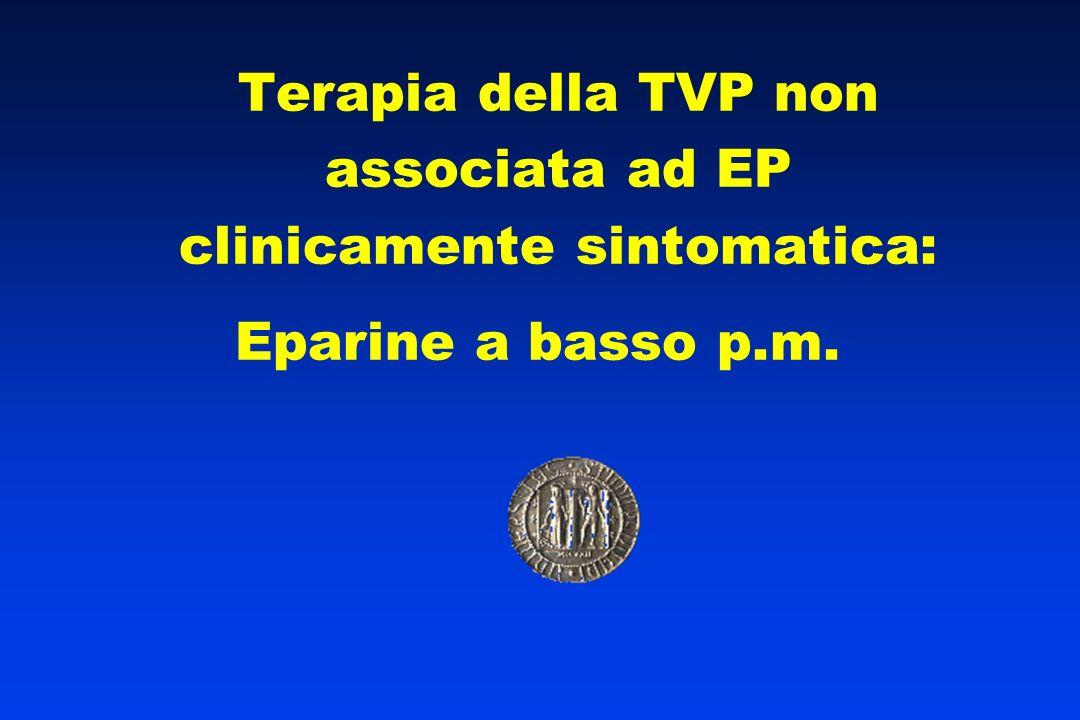 Terapia della TVP non associata ad EP clinicamente sintomatica: Eparine a basso p.m.