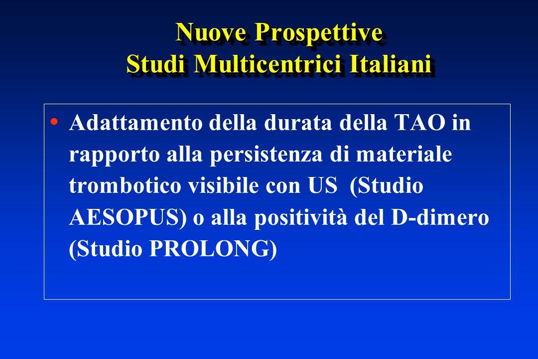 Nuove Prospettive Studi Multicentrici Italiani Adattamento della durata della TAO in rapporto alla persistenza di materiale trombotico visibile con US