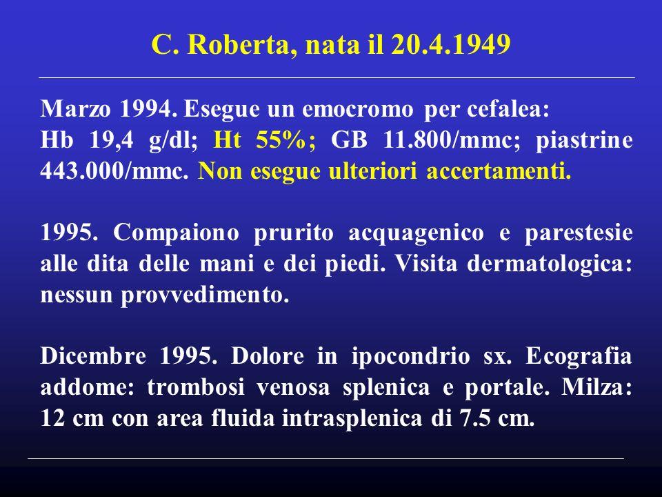 C.Roberta, nata il 20.4.1949 Marzo 1994.