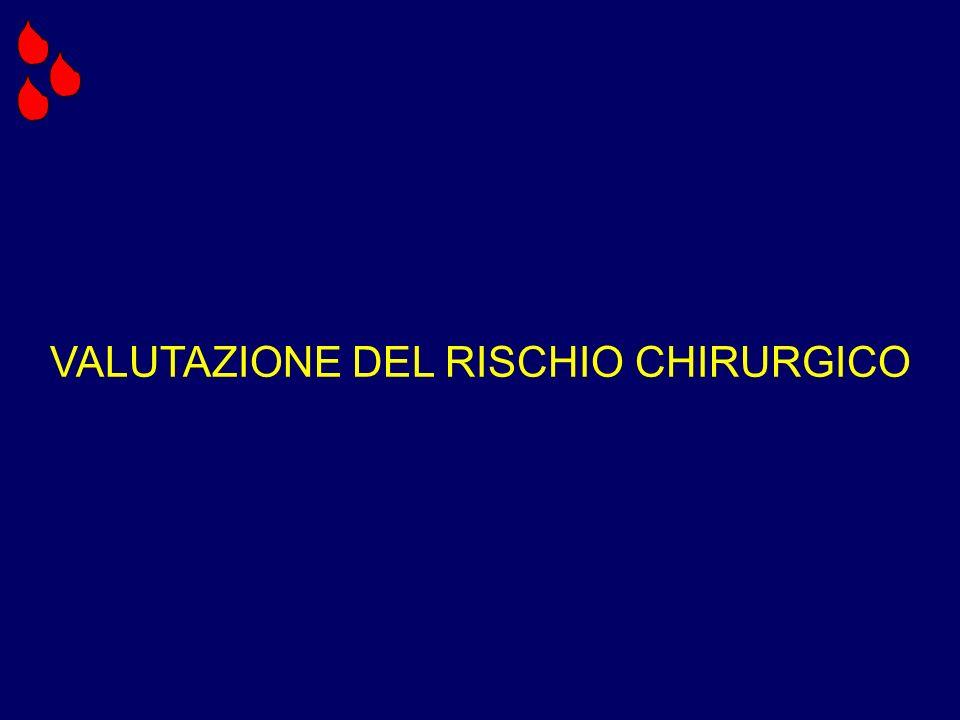 VALUTAZIONE DEL RISCHIO CHIRURGICO