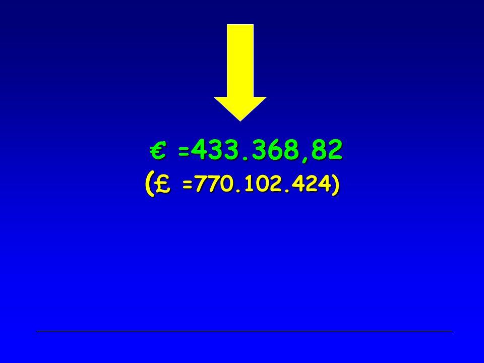 = 433.368,82 ( £ =770.102.424) = 433.368,82 ( £ =770.102.424)