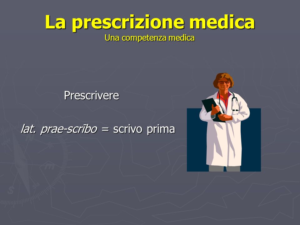 In che cosa consiste una prescrizione.Quali sono i suoi elementi costitutivi.