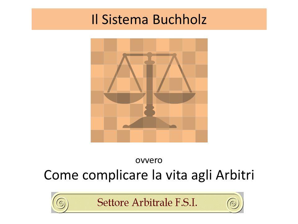 Il Sistema Buchholz ovvero Come complicare la vita agli Arbitri