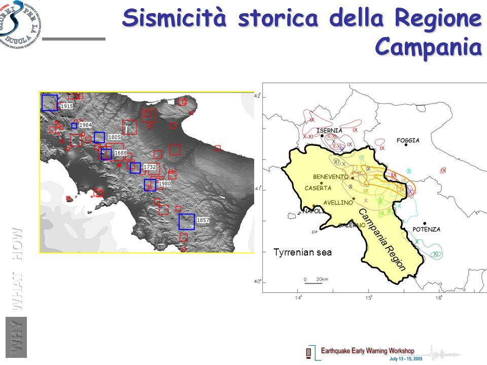 Sismicità storica della Regione Campania Tyrrenian sea Campania Region