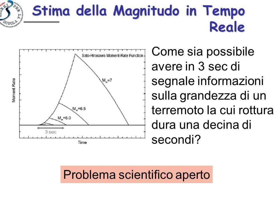 Stima della Magnitudo in Tempo Reale Come sia possibile avere in 3 sec di segnale informazioni sulla grandezza di un terremoto la cui rottura dura una
