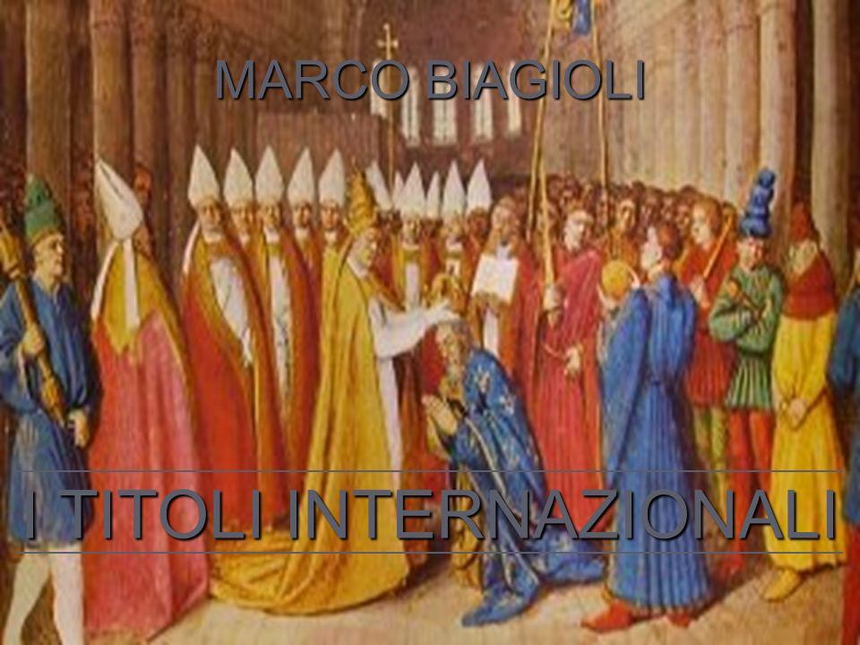 MARCO BIAGIOLI I TITOLI INTERNAZIONALI
