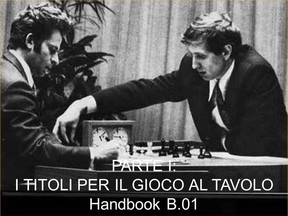 PARTE I: I TITOLI PER IL GIOCO AL TAVOLO Handbook B.01