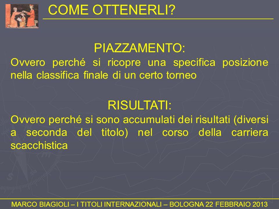 COMPITI DELLARBITRO (3) MARCO BIAGIOLI – I TITOLI INTERNAZIONALI – BOLOGNA 22 FEBBRAIO 2013 LA (POSSIBILE) REALIZZAZIONE DI NORME O IL RAGGIUNGIMENTO DELLE SOGLIE RATING COMPORTANO PER LARBITRO DEI COMPITI IMPORTANTISSIMI.