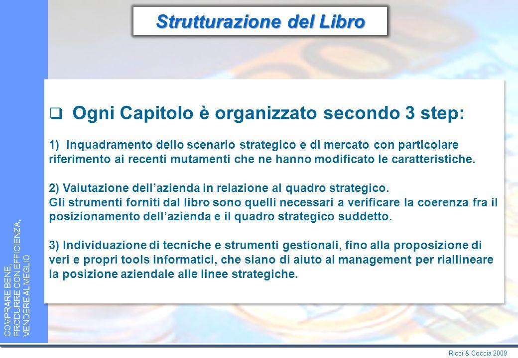 Ricci & Coccia 2009 COMPRARE BENE, PRODURRE CON EFFICIENZA, VENDERE AL MEGLIO Strutturazione del Libro Il libro è diviso 4 Capitoli: 1.