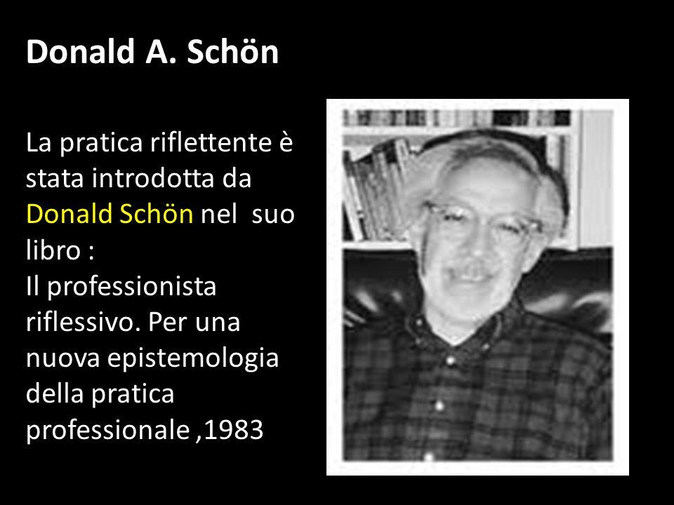 La pratica riflettente è stata introdotta da Donald Schön nel suo libro : Il professionista riflessivo. Per una nuova epistemologia della pratica prof