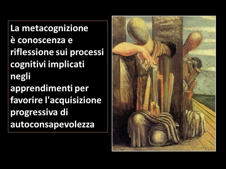 La metacognizione è conoscenza e riflessione sui processi cognitivi implicati negli apprendimenti per favorire l'acquisizione progressiva di autoconsa