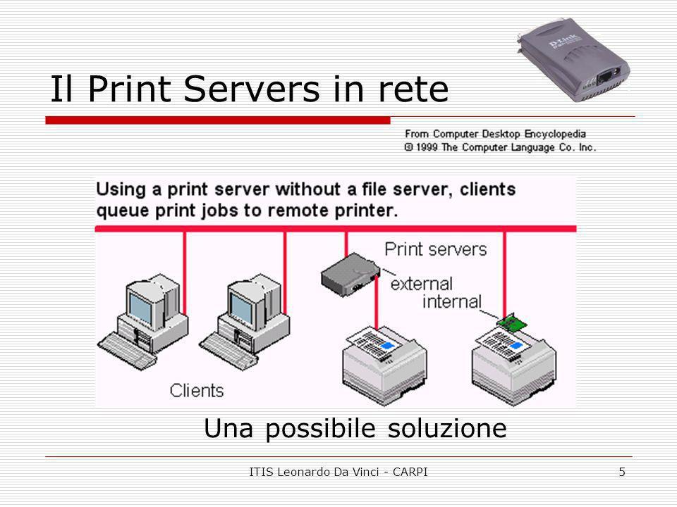 ITIS Leonardo Da Vinci - CARPI5 Il Print Servers in rete Una possibile soluzione