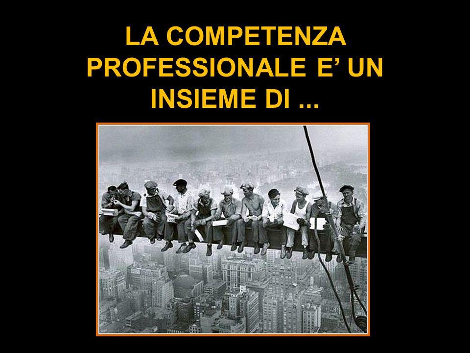 LA COMPETENZA PROFESSIONALE E UN INSIEME DI...