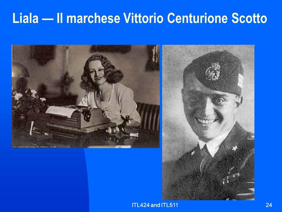 ITL424 and ITL51124 Liala Il marchese Vittorio Centurione Scotto
