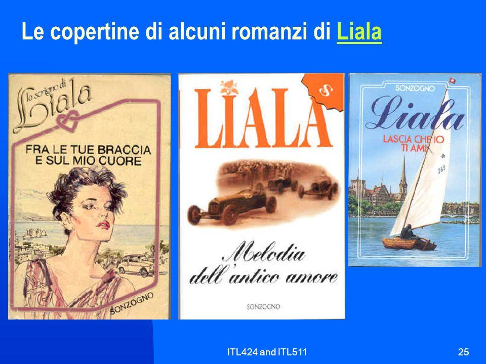 ITL424 and ITL51125 Le copertine di alcuni romanzi di LialaLiala