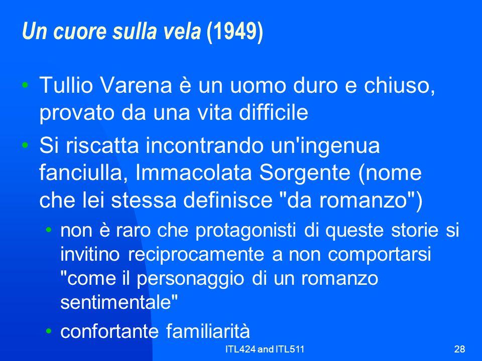 ITL424 and ITL51128 Un cuore sulla vela (1949) Tullio Varena è un uomo duro e chiuso, provato da una vita difficile Si riscatta incontrando un'ingenua