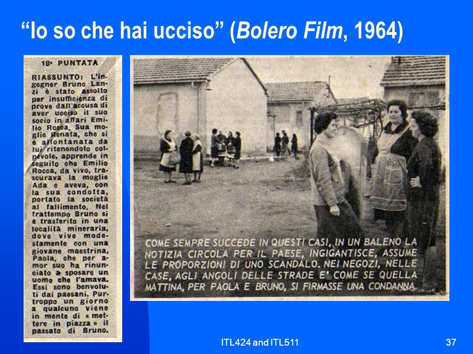 ITL424 and ITL51137 Io so che hai ucciso ( Bolero Film, 1964)
