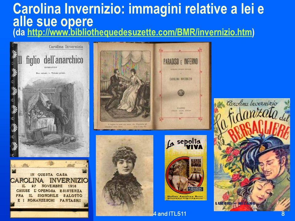 ITL424 and ITL5118 Carolina Invernizio: immagini relative a lei e alle sue opere (da http://www.bibliothequedesuzette.com/BMR/invernizio.htm)http://ww