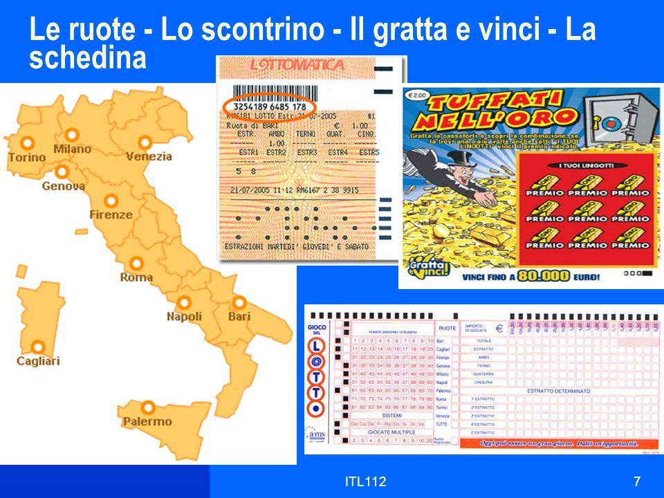 ITL1127 Le ruote - Lo scontrino - Il gratta e vinci - La schedina