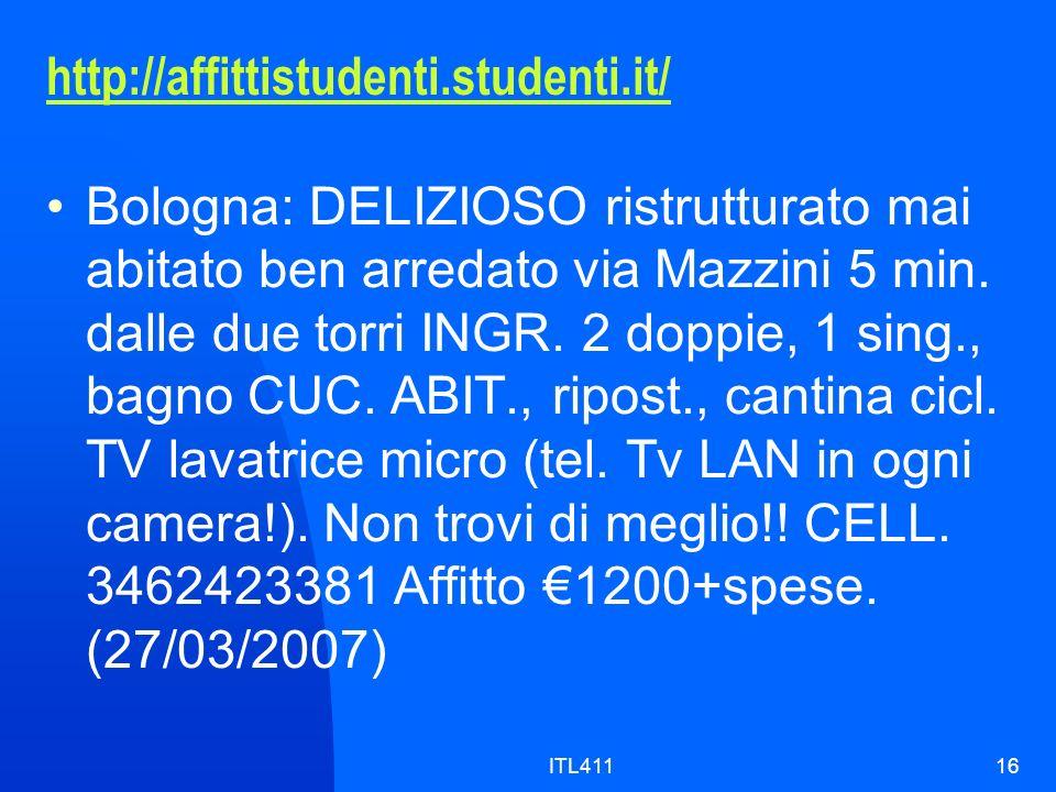 http://affittistudenti.studenti.it/ Bologna: DELIZIOSO ristrutturato mai abitato ben arredato via Mazzini 5 min.