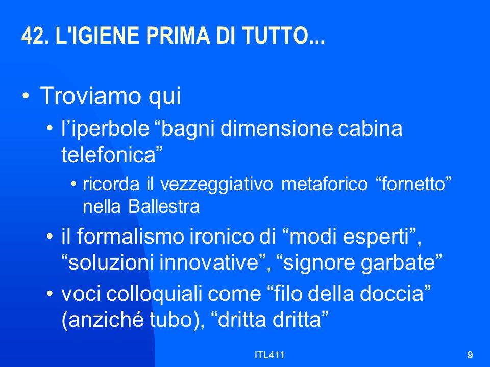 42. L IGIENE PRIMA DI TUTTO...