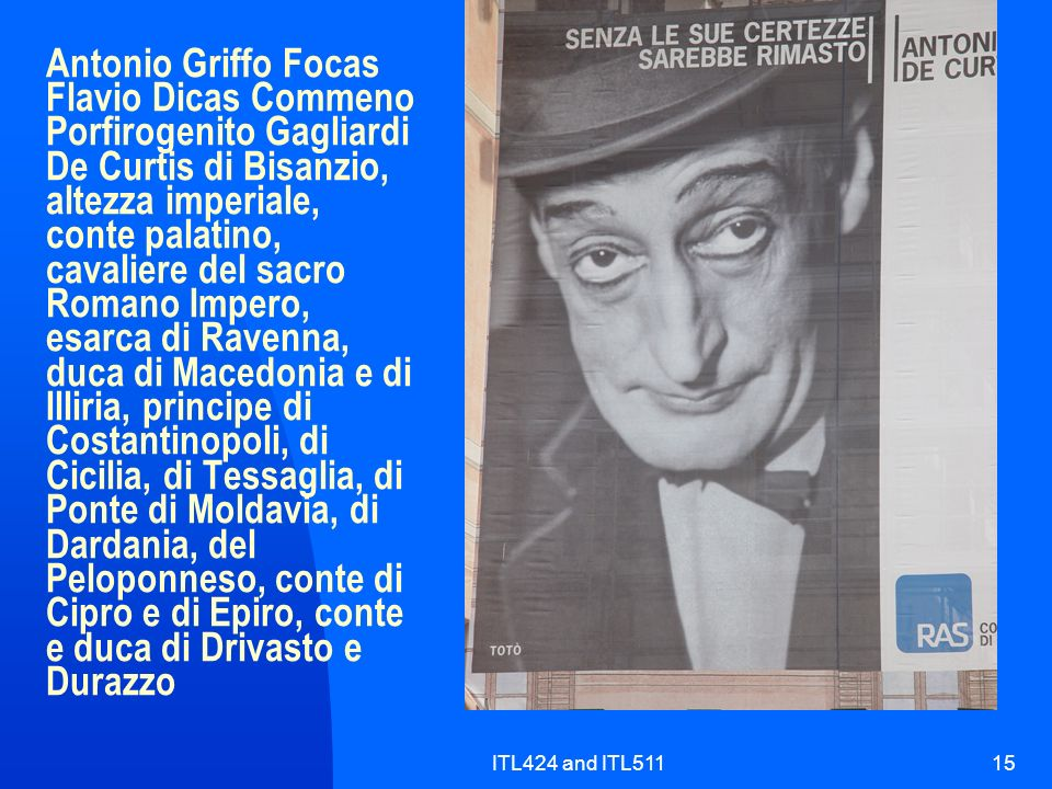 ITL424 and ITL51115 Antonio Griffo Focas Flavio Dicas Commeno Porfirogenito Gagliardi De Curtis di Bisanzio, altezza imperiale, conte palatino, cavali