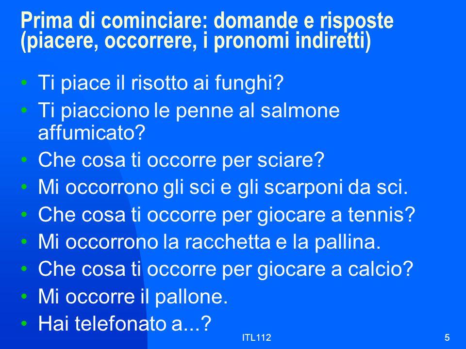 ITL1126 Letture: Chi gioca.(p. 270), Gli sport in Italia (p.