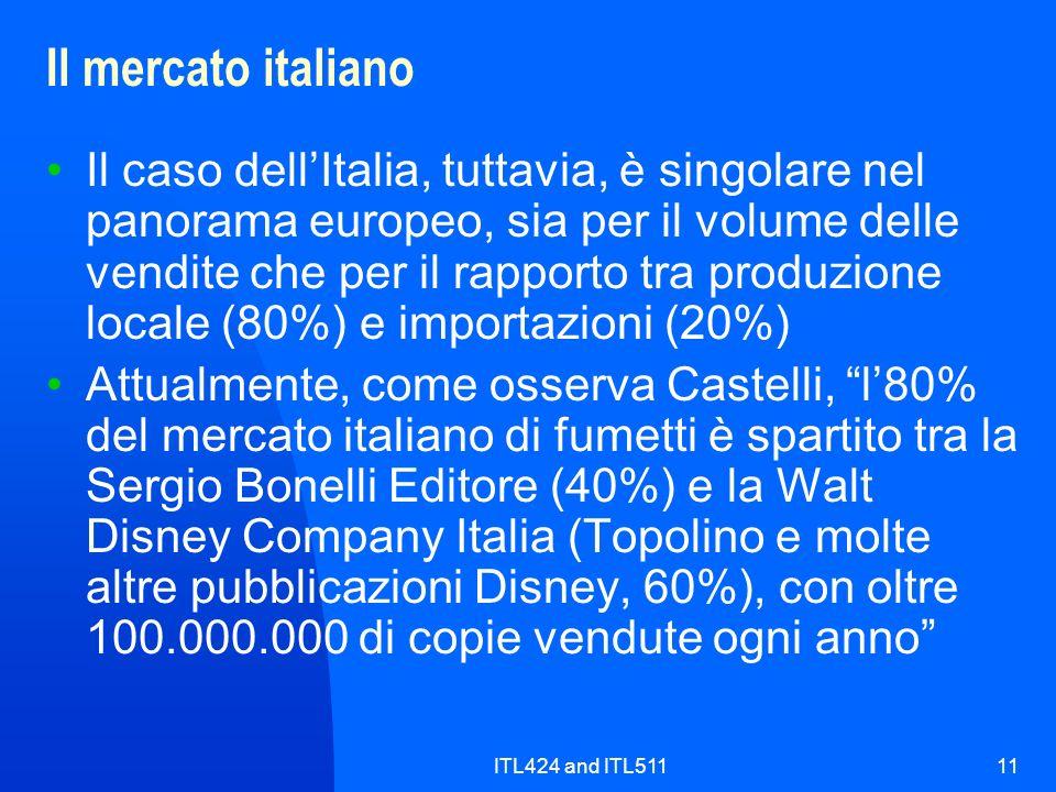 ITL424 and ITL51111 Il mercato italiano Il caso dellItalia, tuttavia, è singolare nel panorama europeo, sia per il volume delle vendite che per il rap