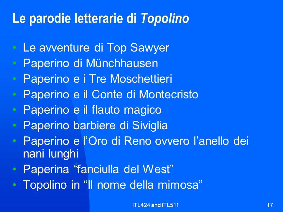 ITL424 and ITL51117 Le parodie letterarie di Topolino Le avventure di Top Sawyer Paperino di Münchhausen Paperino e i Tre Moschettieri Paperino e il C
