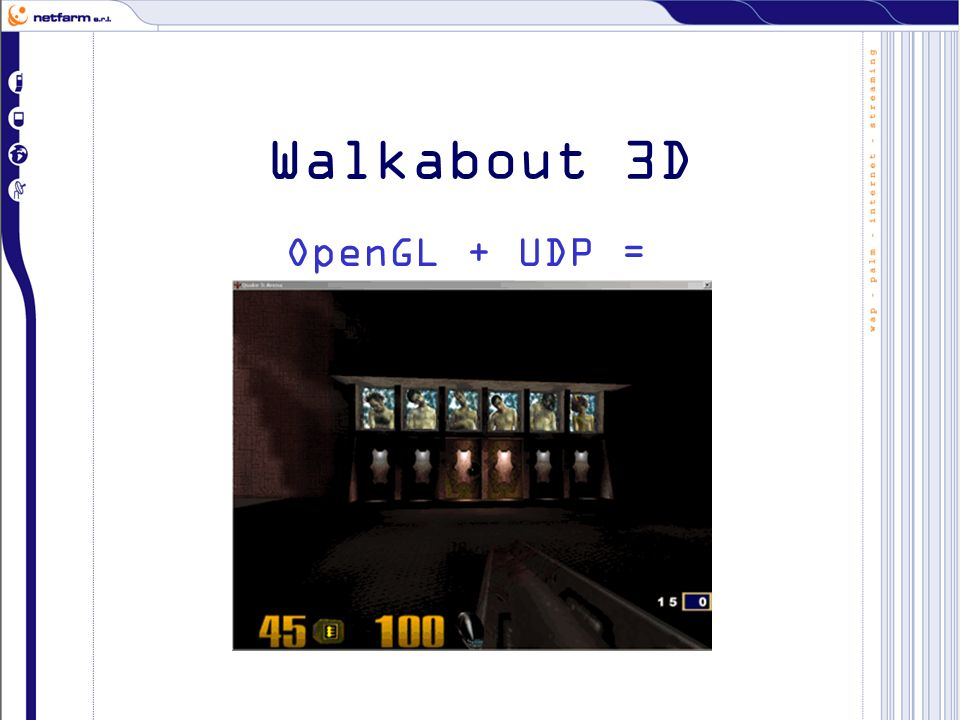 Walkabout 3D OpenGL + UDP =