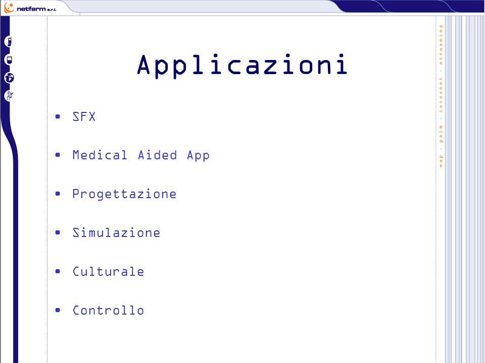 Applicazioni SFX Medical Aided App Progettazione Simulazione Culturale Controllo