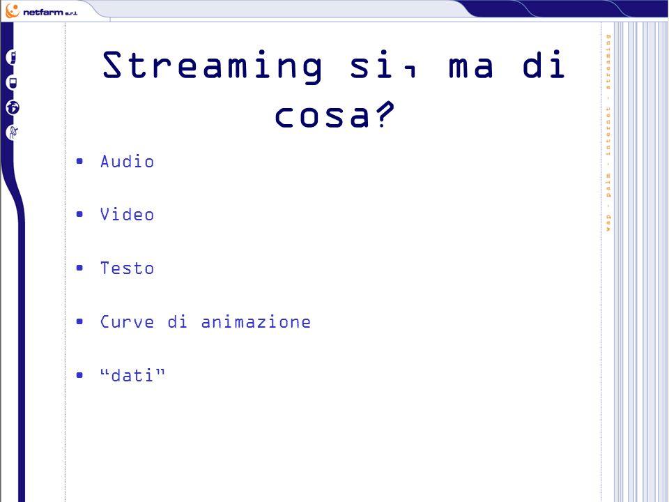 Streaming si, ma di cosa Audio Video Testo Curve di animazione dati